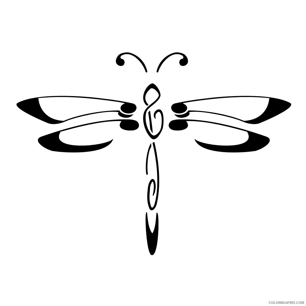 Cartoon Dragonfly Coloring Pages cartoon dragonfly best oauPGG Printable Coloring4free