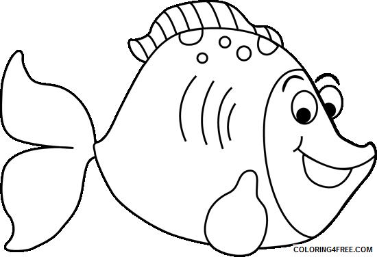 Cartoon Fish Coloring Pages cartoon fish Printable Coloring4free