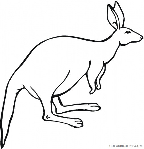 Cartoon Kangaroo Coloring Pages red kangaroo colouring cartoon Printable Coloring4free