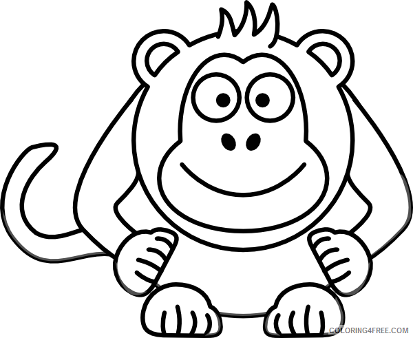 Cartoon Monkey Coloring Pages cartoon monkey Printable Coloring4free