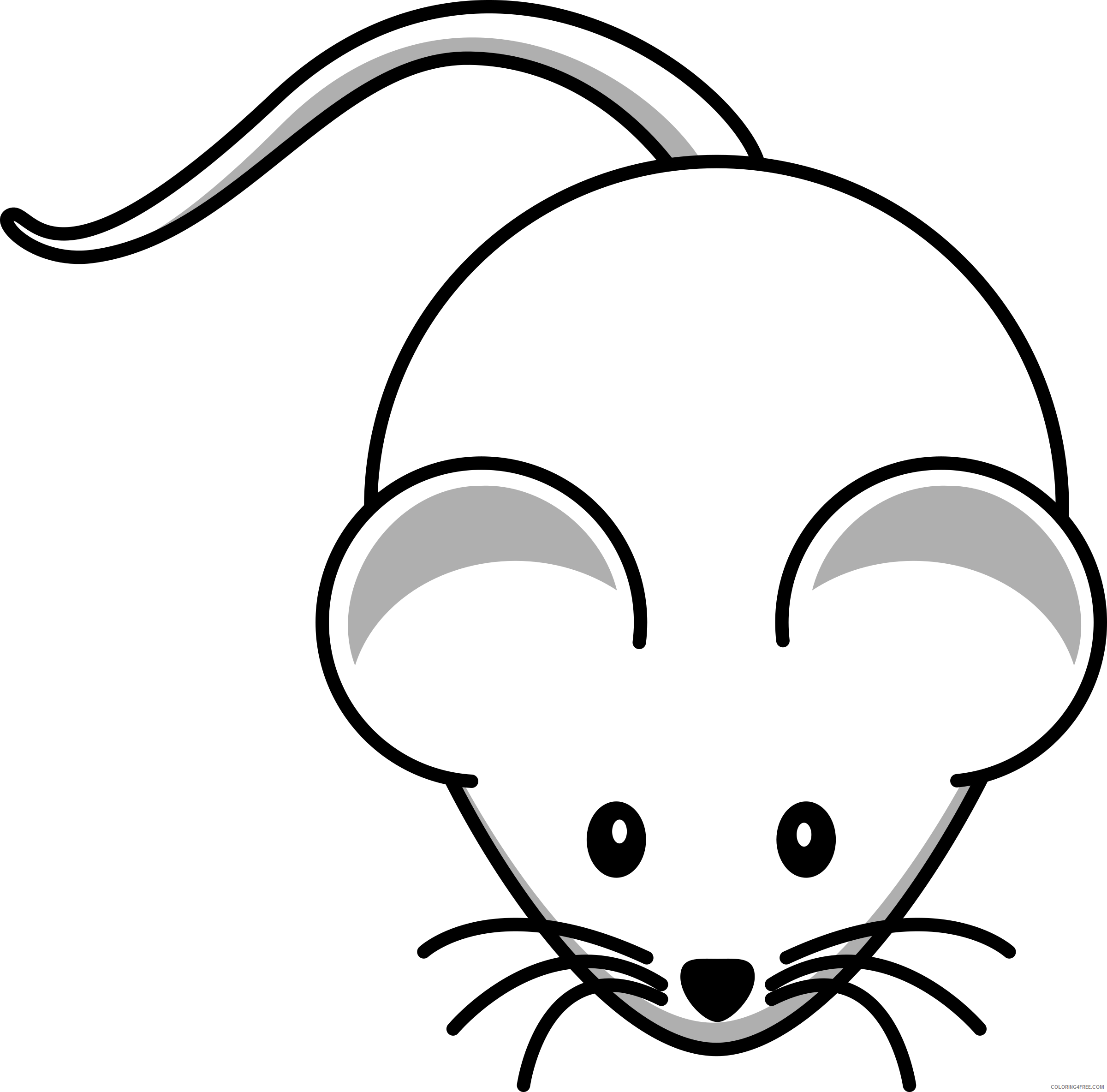 Cartoon Mouse Coloring Pages lemmling simple cartoon mouse 1 Printable Coloring4free