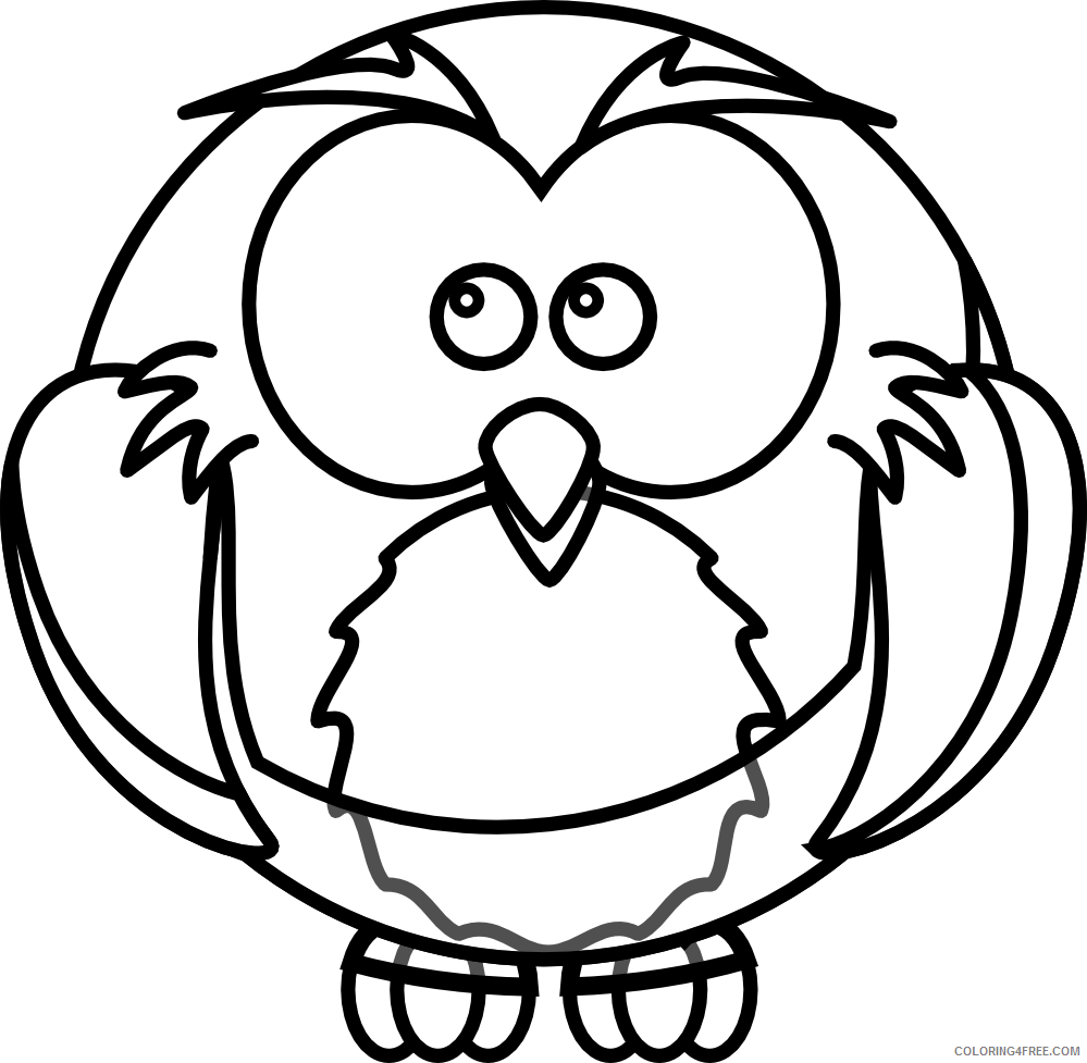 Cartoon Owl Coloring Pages 18 cartoon owl pages Printable Coloring4free