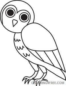 Cartoon Owl Coloring Pages cartoon owl Printable Coloring4free