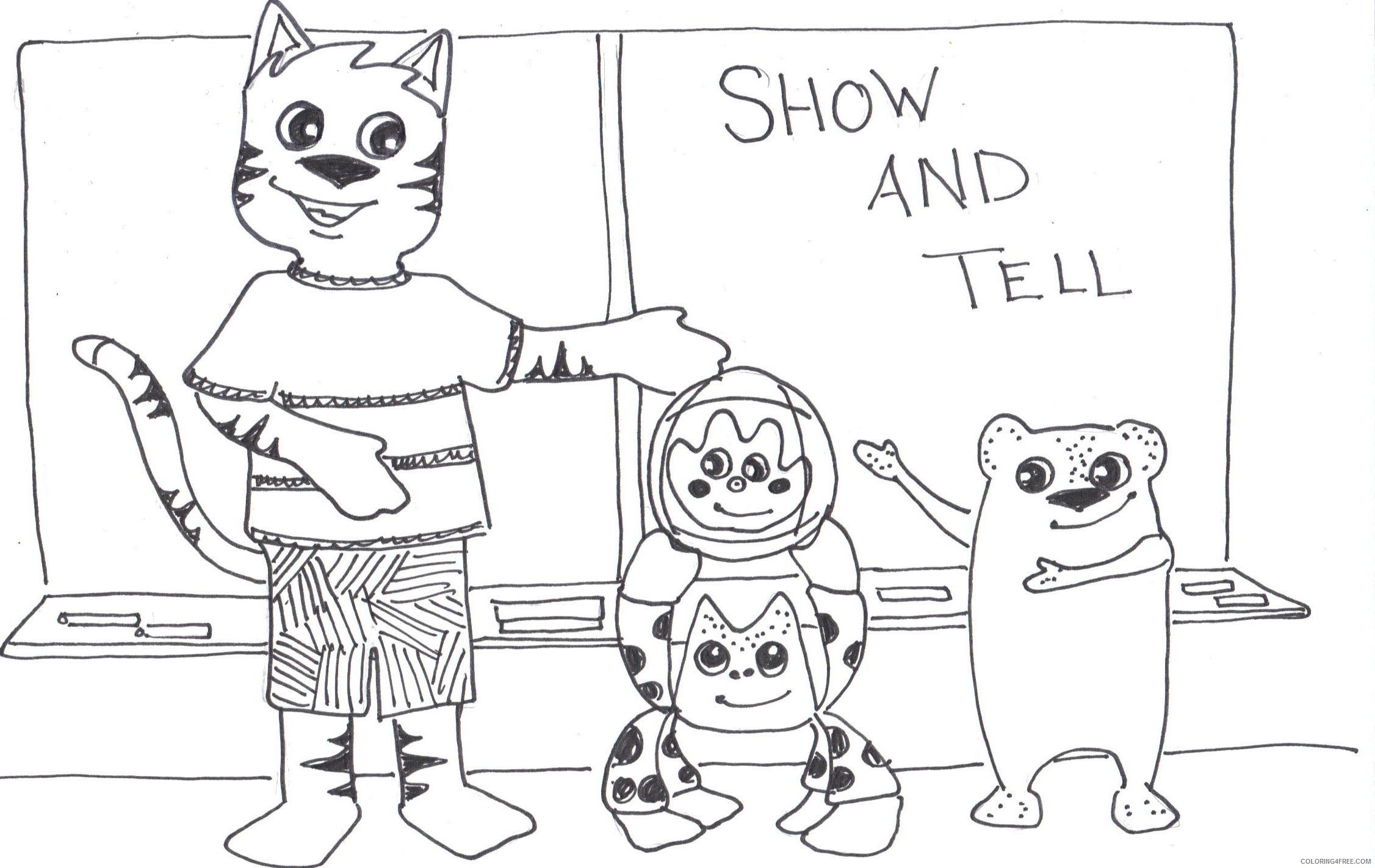 Cat Huge Coloring Pages show and tell what a Printable Coloring4free
