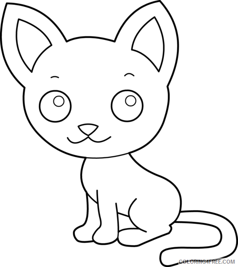 Cat Medium Coloring Pages cat 31 png Printable Coloring4free