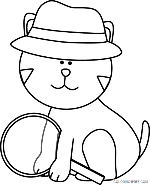Cat Outline Coloring Pages cat Printable Coloring4free
