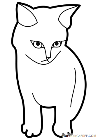 Cat Outline Coloring Pages cat face Printable Coloring4free