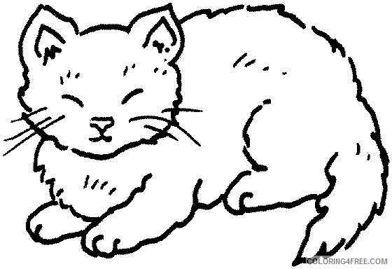 Cat Outline Coloring Pages clip art Printable Coloring4free
