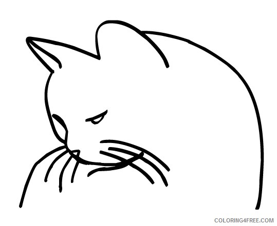 Cat Outline Coloring Pages outline cat jpg Printable Coloring4free