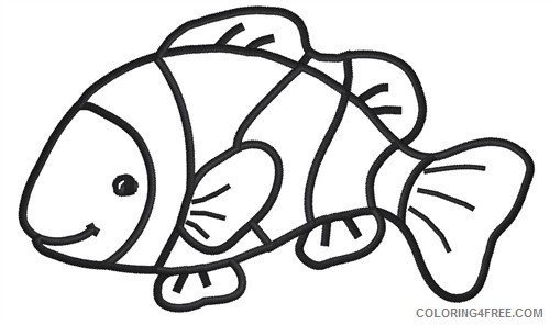 Clown Fish Coloring Pages clown fish black Printable Coloring4free