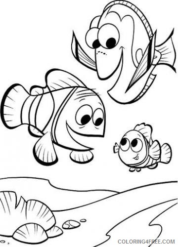 Clownfish Coloring Pages finding nemo and friends coloring Printable Coloring4free