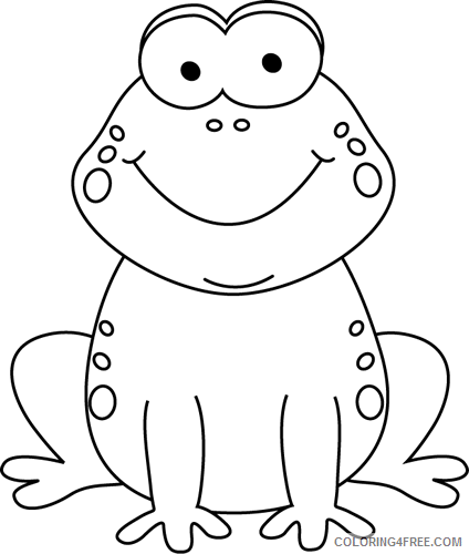 Coloring Pages Frog Coloring Pages cartoon frog Printable Coloring4free