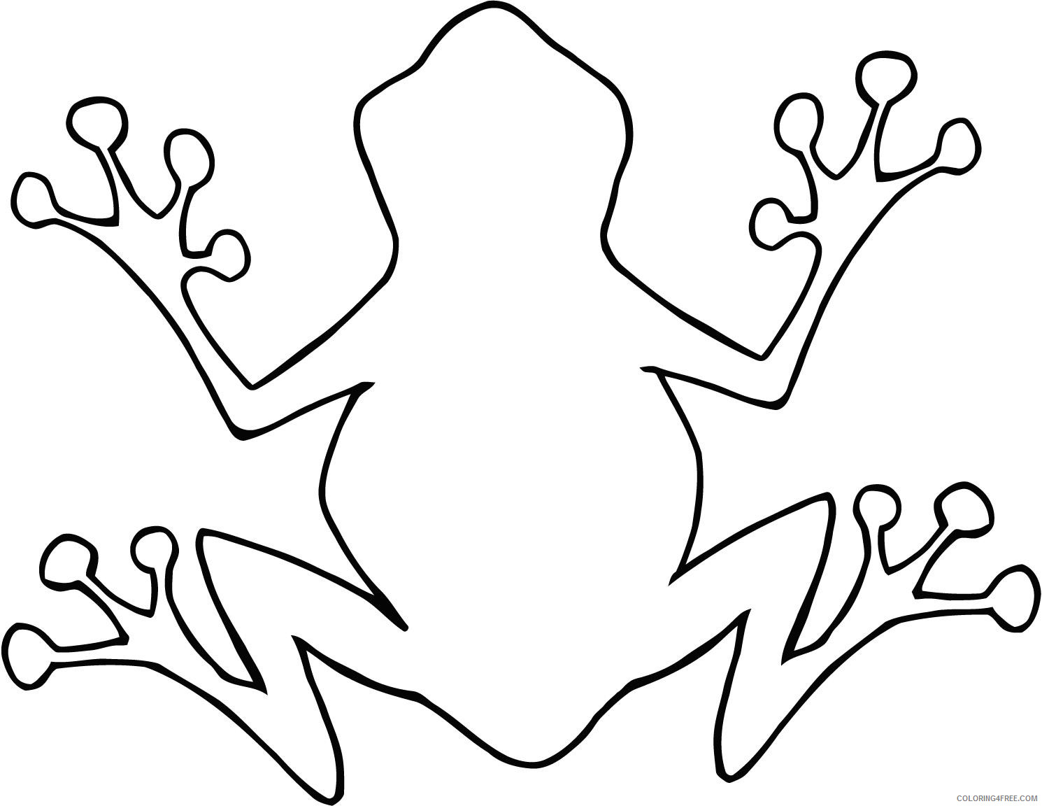 Coloring Pages Frog Coloring Pages sheet of cartoon outline Printable Coloring4free