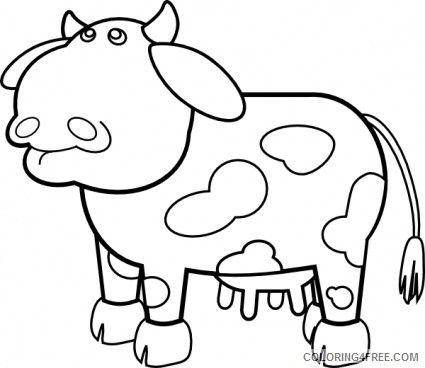 Cow Outline Coloring Pages cow outline atp6V0 Printable Coloring4free