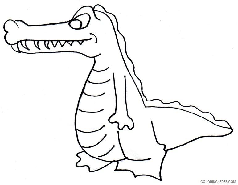 Crocodile Coloring Pages crocodile outline crocodile clipart3 jpg Printable Coloring4free