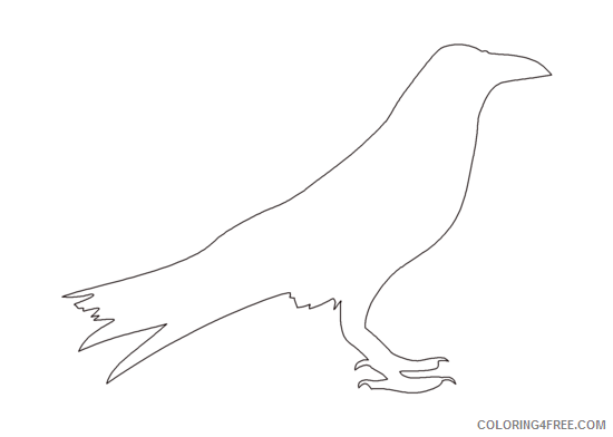 Crow Coloring Pages Corbeau Crow Png Printable Coloring4free Coloring4free Com