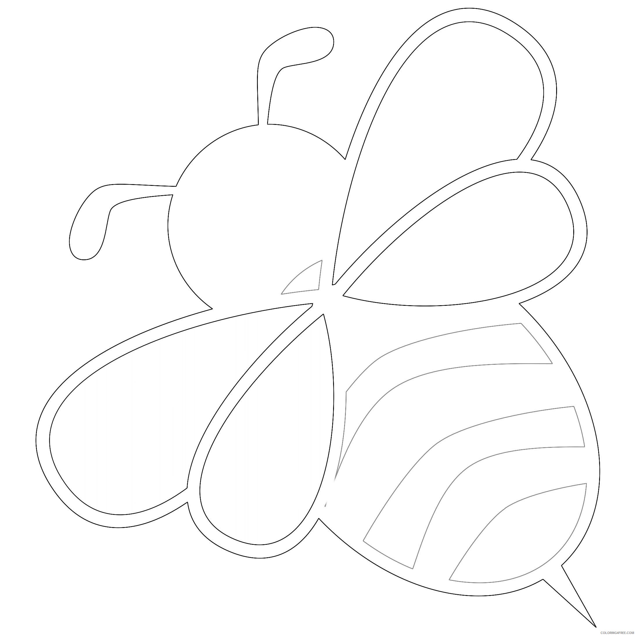 Bee Coloring Pages – coloring.rocks! | 2190x2190