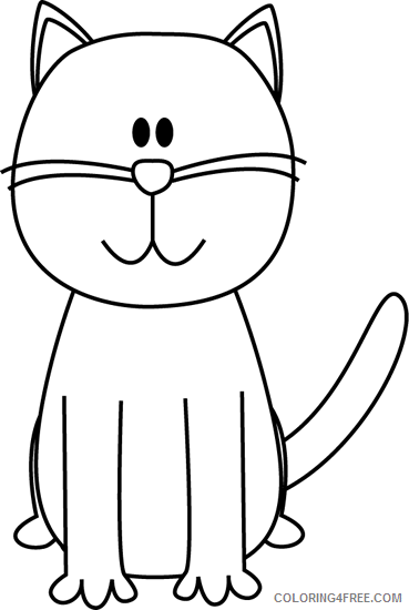 Cute Cat Coloring Pages cute cat black Printable Coloring4free