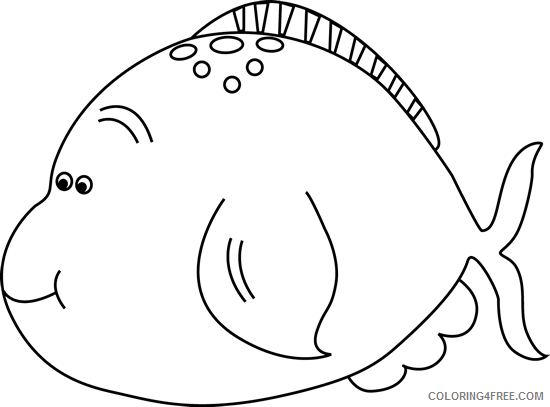 Cute Fish Coloring Pages and white cute fat fish Printable Coloring4free