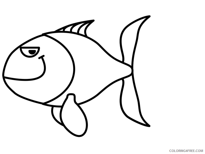 Cute Fish Coloring Pages cute fish black Printable Coloring4free