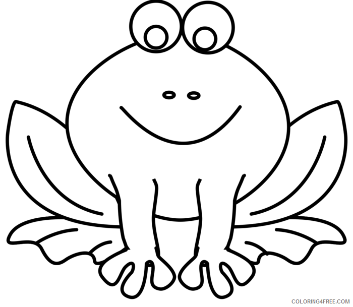 Cute Frog Coloring Pages cute frog black and Printable Coloring4free