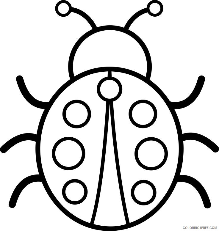Cute Ladybug Coloring Pages pictures cute Printable Coloring4free