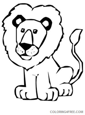 Cute Lion Coloring Pages cute lion black and Printable Coloring4free