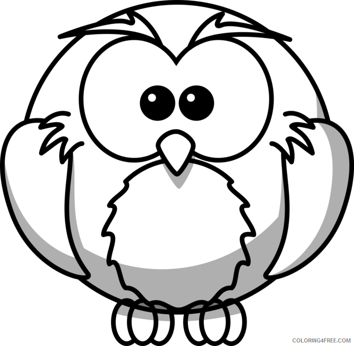 Cute Owl Coloring Pages cute owl on tree clipart Printable Coloring4free