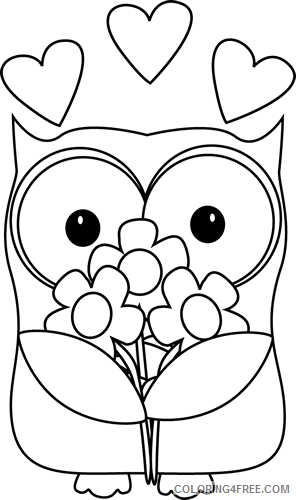 Cute Owl Coloring Pages owl clip Printable Coloring4free