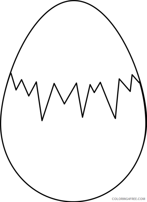 Dinosaur Egg Coloring Pages dinosaur egg black and Printable Coloring4free