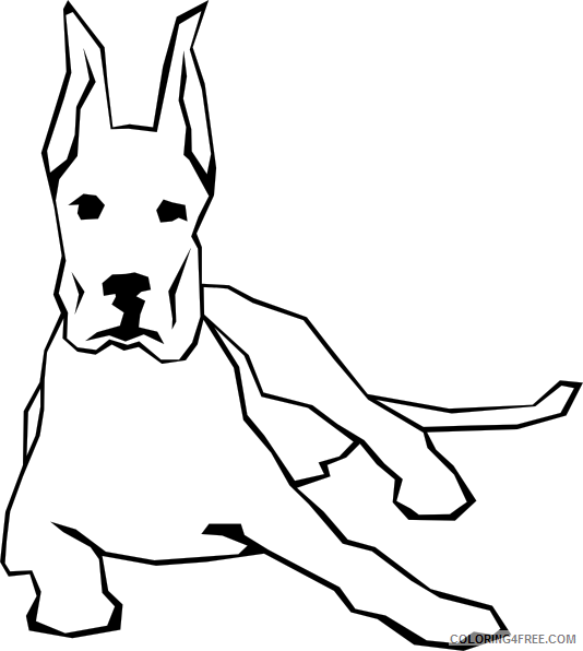 Dog Awesome Coloring Pages dog simple drawing clip art Printable Coloring4free
