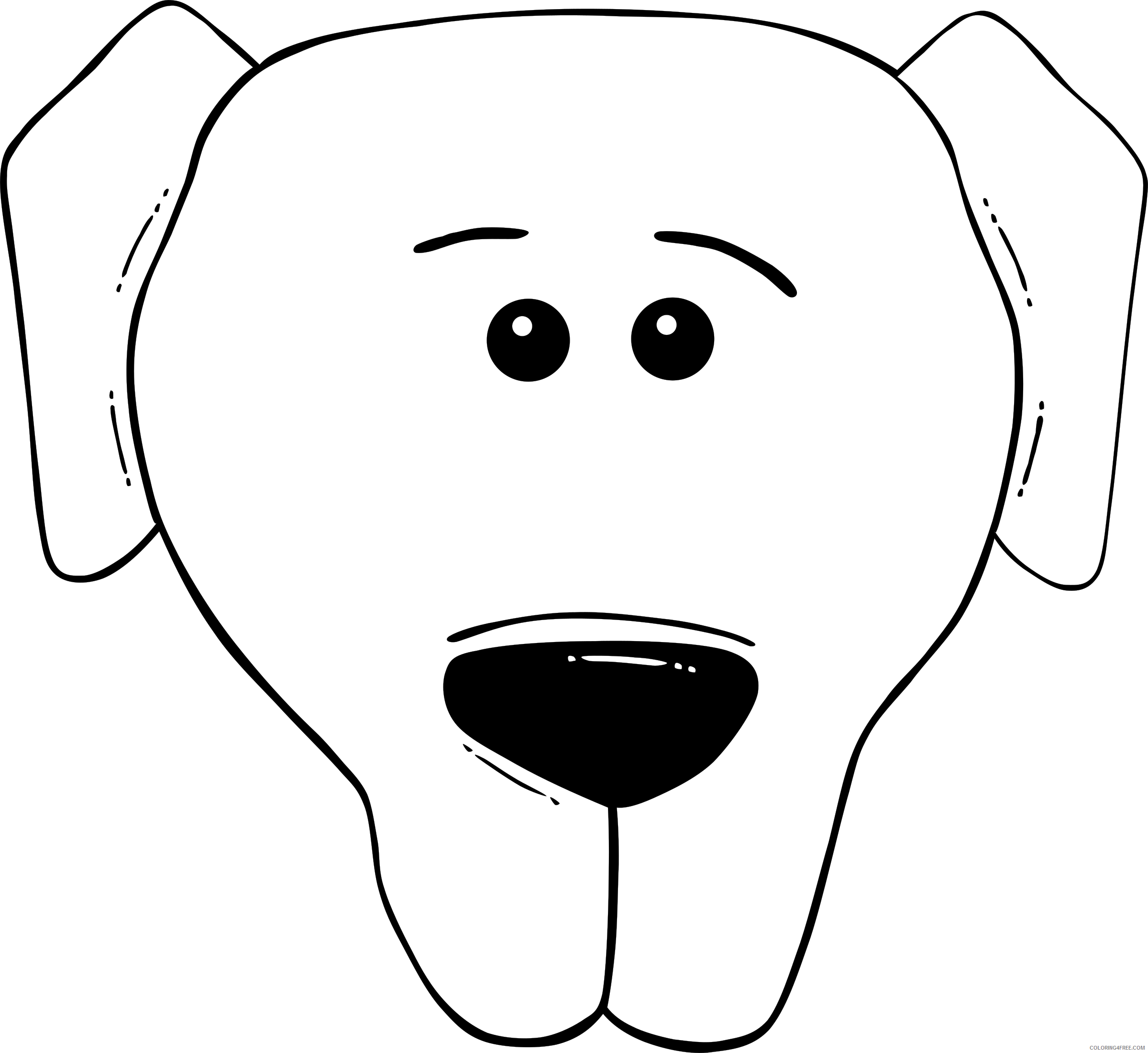 Dog Face Coloring Pages gerald g dog face cartoon Printable Coloring4free