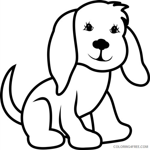 Dog Outline Coloring Pages dog outline best xRt7rA Printable Coloring4free