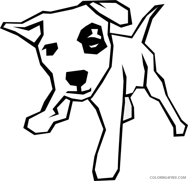 Dog Outline Coloring Pages dog simple drawing clip art Printable Coloring4free