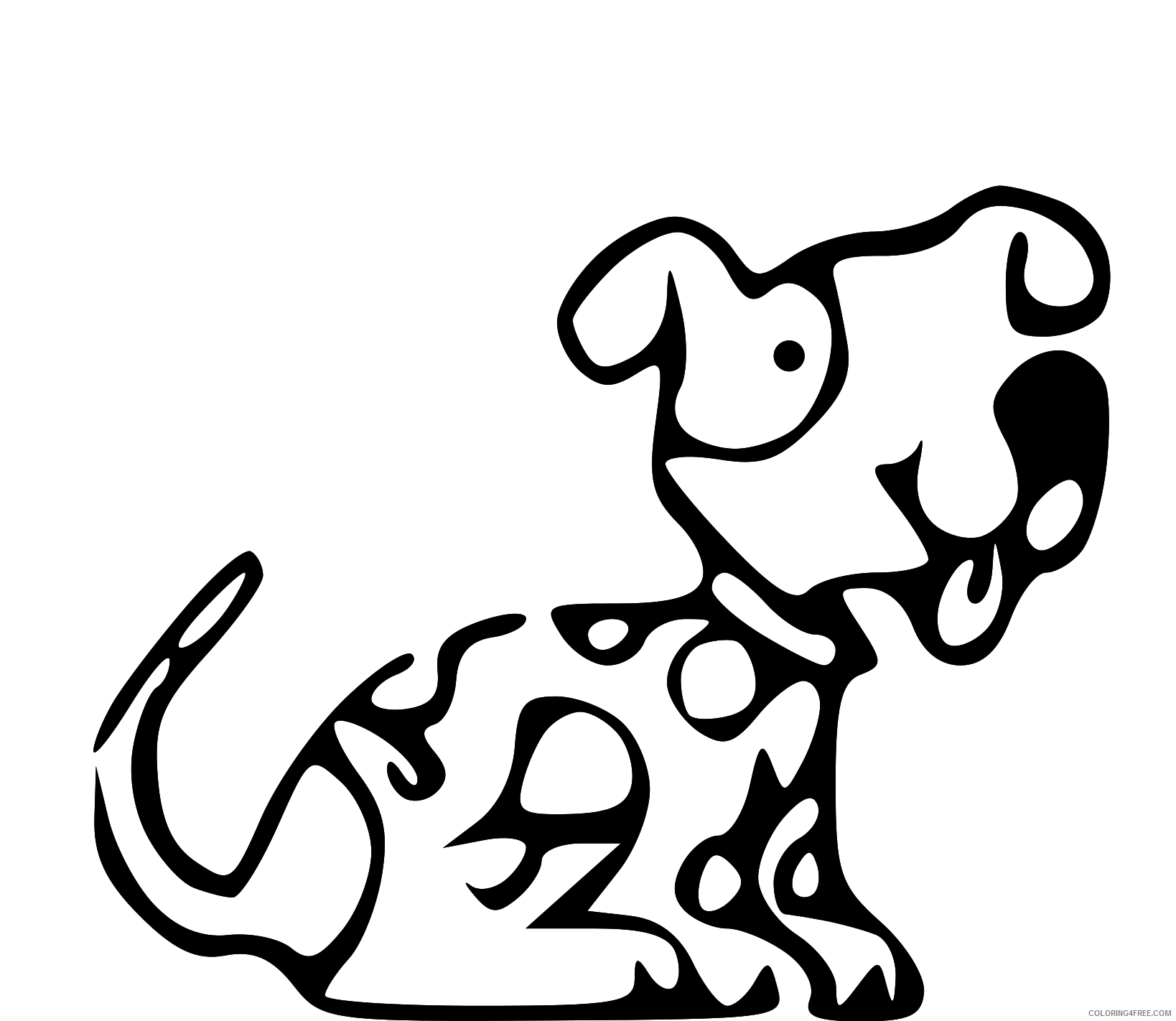 Dog Outline Coloring Pages lds dog clip art Printable Coloring4free