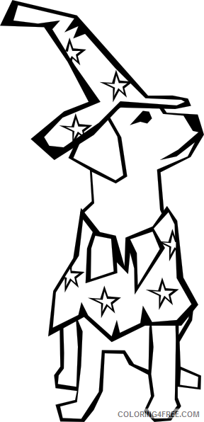 Dog Silhouette Coloring Pages dog simple drawing clip art Printable Coloring4free