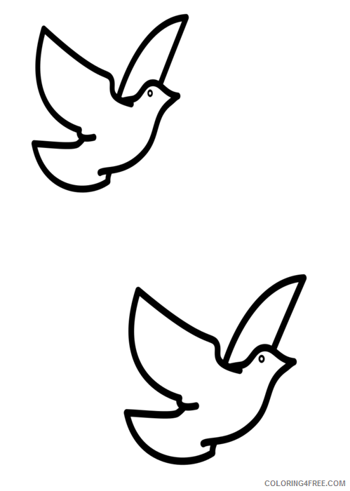 Dove Silhouette Coloring Pages confirmation doves vector Printable Coloring4free