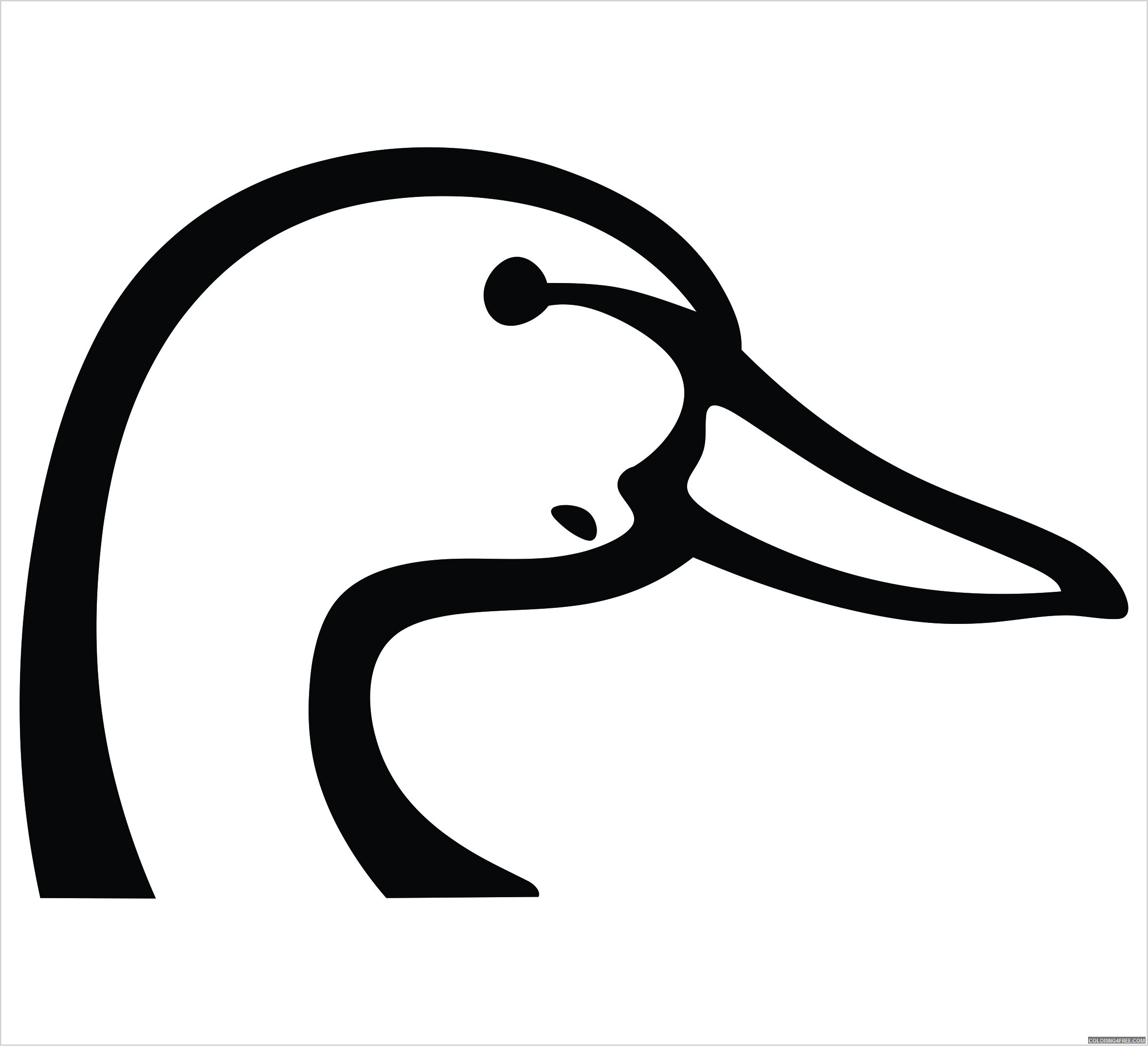Duck Head Coloring Pages duck head decal powercall emergency Printable Coloring4free