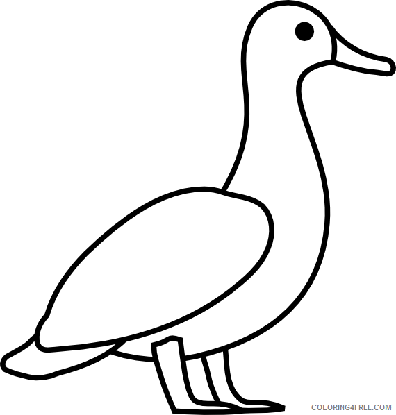 Duck Outline Coloring Pages duck outline at Printable Coloring4free
