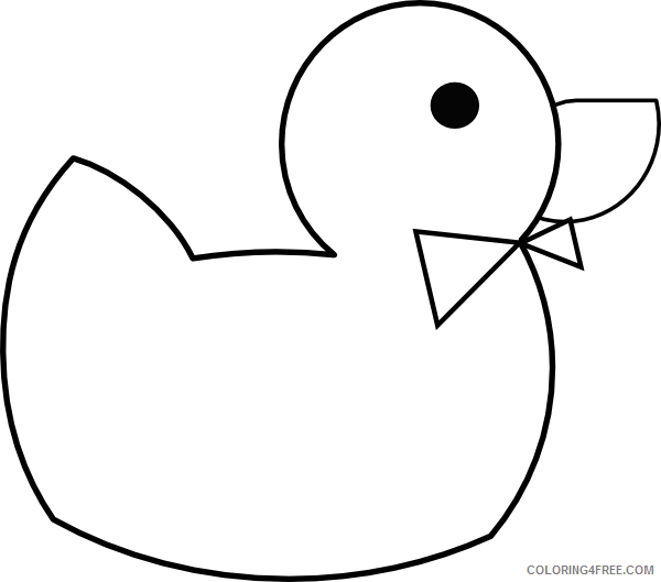 Duck Outline Coloring Pages the doctor s ducky clip Printable Coloring4free