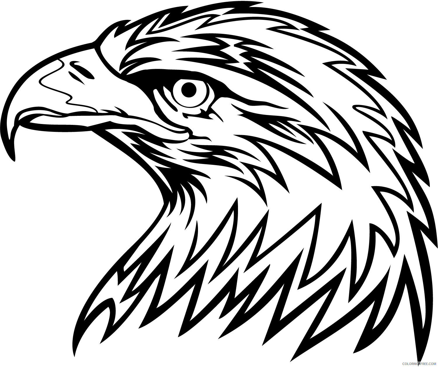 Eagle Coloring Pages strawberry vector soccer player eagle Printable Coloring4free