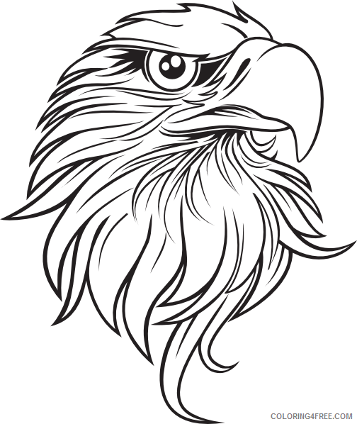 Eagle Head Coloring Pages eagle head 3 png Printable Coloring4free
