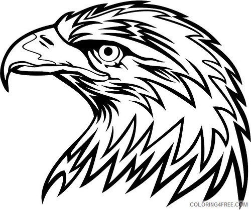 Eagle Head Coloring Pages eagle head black and Printable Coloring4free
