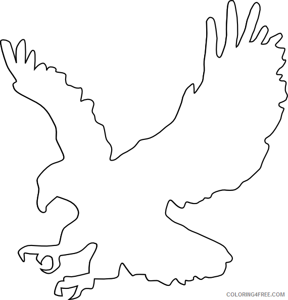 Eagle Outline Coloring Pages eagle outline at Printable Coloring4free