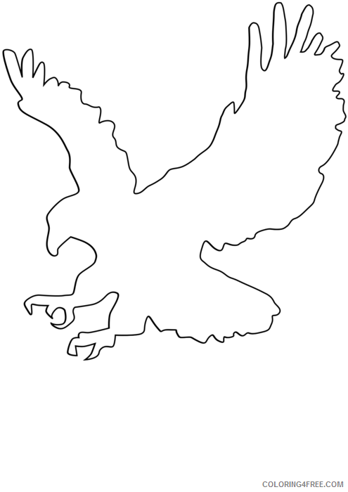 Eagle Outline Coloring Pages eagle outline vector Printable Coloring4free