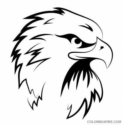 Eagle Tattoo Coloring Pages clip tattoo templates eagles head Printable Coloring4free