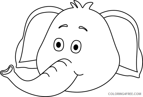 Elephant Face Coloring Pages elephant face Printable Coloring4free