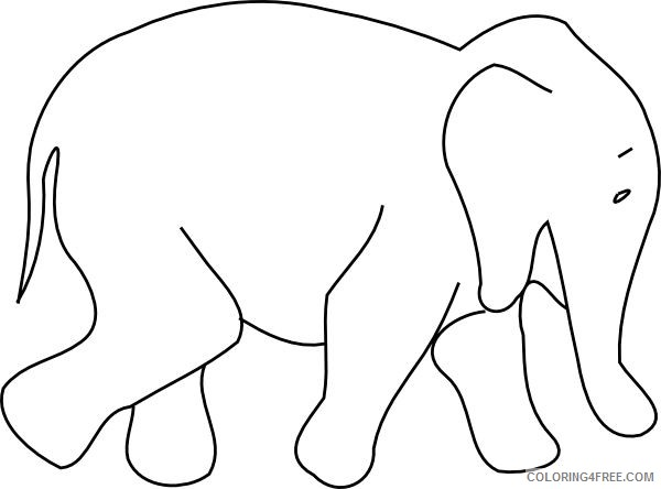 Elephant Outline Coloring Pages animal outline drawings elephant animal Printable Coloring4free