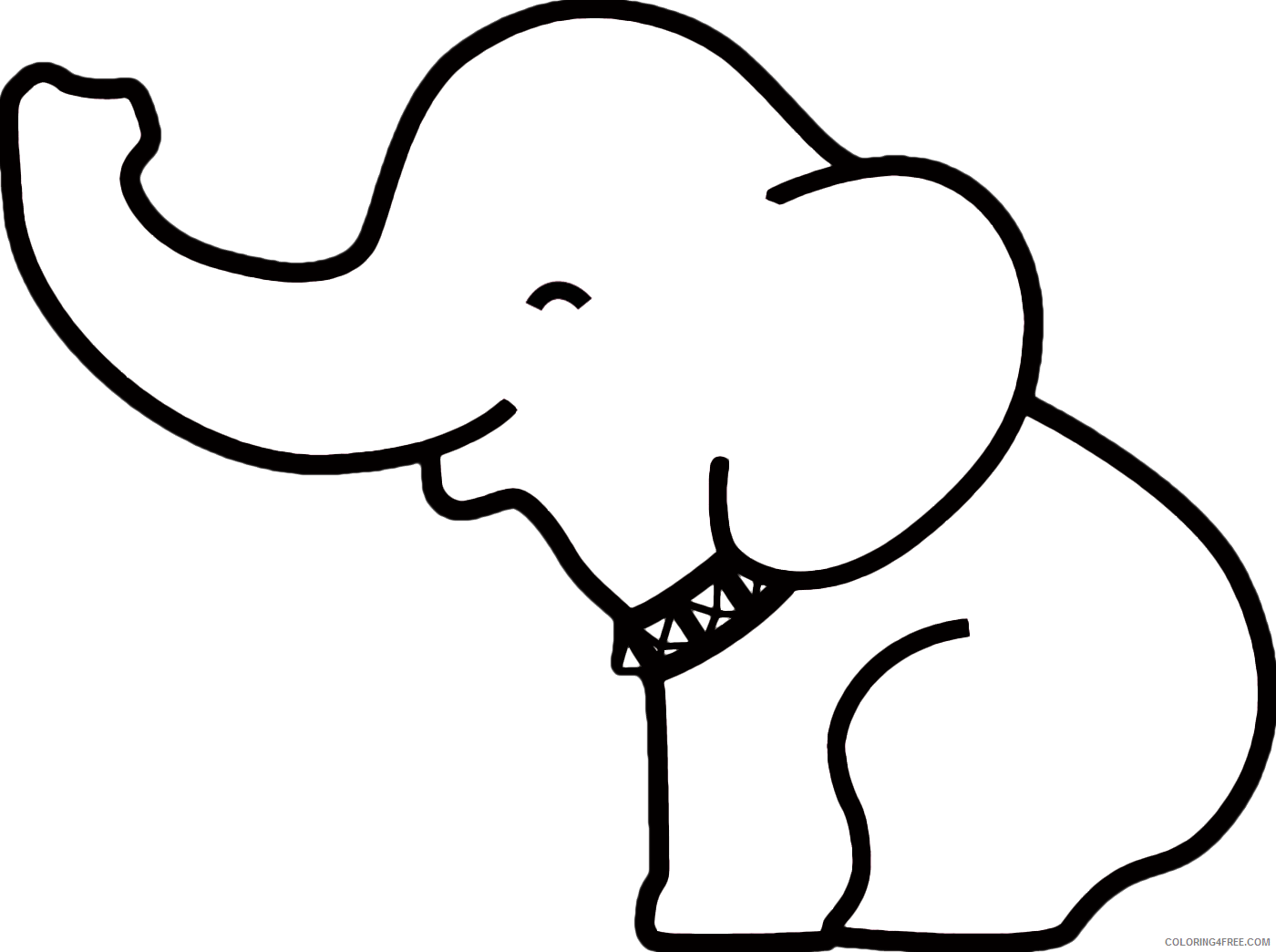 Elephant Outline Coloring Pages best elephant outline 3 png Printable Coloring4free