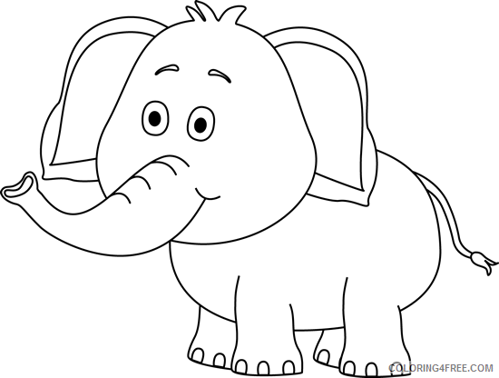 Elephant Outline Coloring Pages elephant 10 png Printable Coloring4free